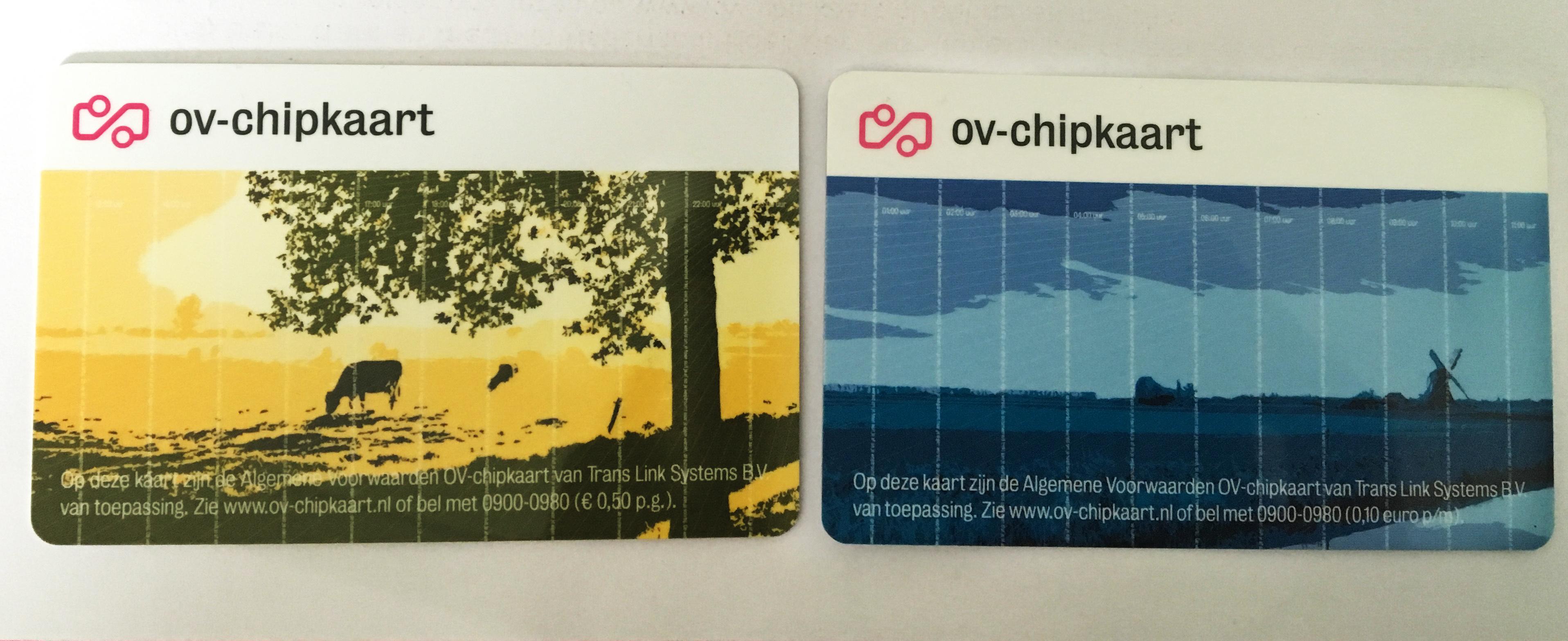 オランダでの交通に必要なOV-chipkaart